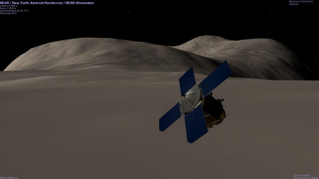 sonde s'approchant d'une planete